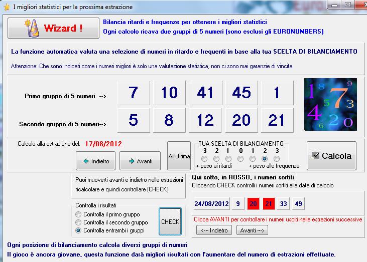Programmi per eurojackpot i migliori numeri statistici i - Calcola imposta di registro ...